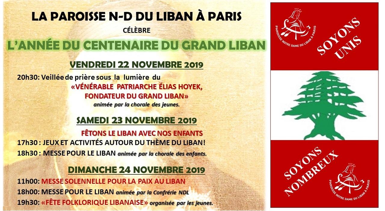 L'année du centenaire du Grand Liban