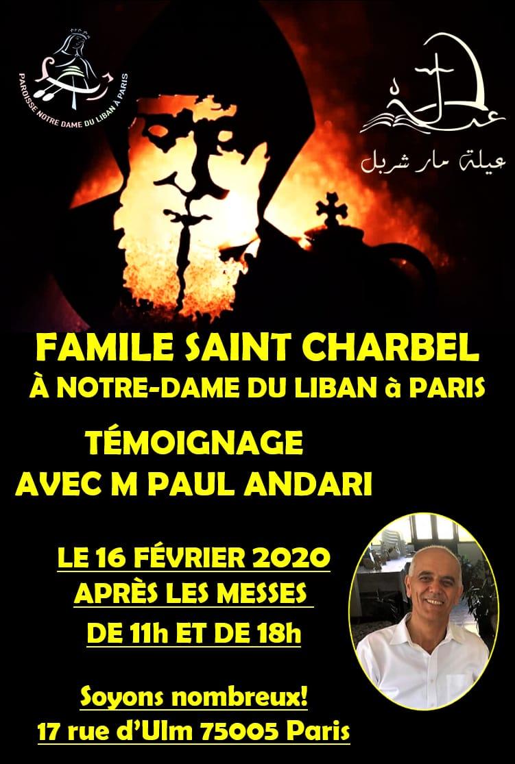 Famille Saint Charbel à Notre Dame du Liban - 16 FÉVRIER 2020